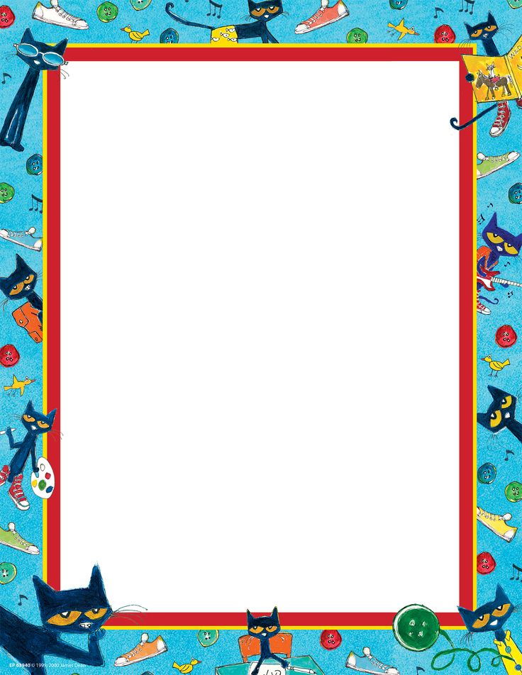 """Pete the Cat Computer Paper - 8-1/2"""" x 11"""" paper coordinates with your favorite Pete the Cat look. 50 sheets in each package."""