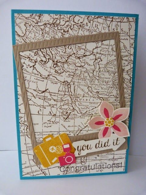 StampinClubNederland - World Map, Around the World, Bravo Stampset, Flower Patch Stamp Set, Stampin Up