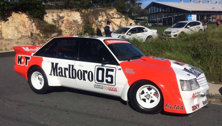 VK Commodore Peter Brock 05 race car replica at Cooly Rocks On 2014