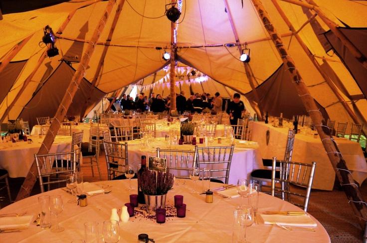 Nice lavender / purple theme wedding Tipis:) #Tipis # ...
