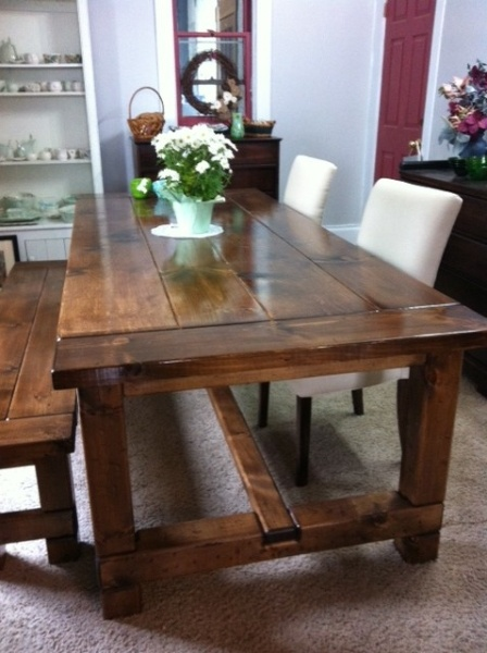 Harvest tables, brand new, many sizes and colours.  Gorgeous solid wood, custom made.  Ask us for more info.