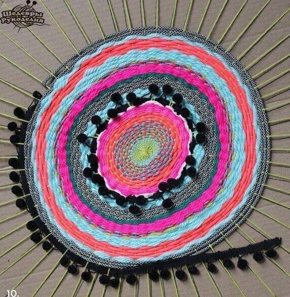 Тканый коврик по-африкански (Diy) / Коврики / Своими руками - выкройки, переделка одежды, декор интерьера своими руками - от ВТОРАЯ УЛИЦА