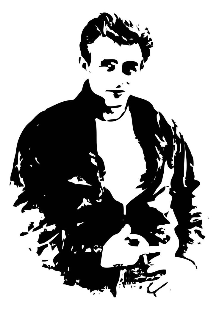 james dean black and white painting - photo #35