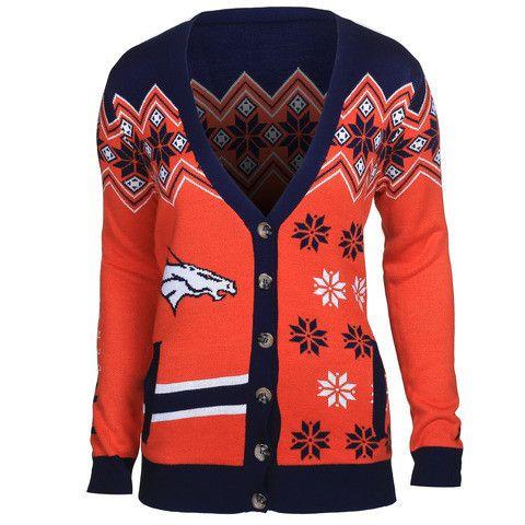 Women's Denver Broncos NFL Cardigan Sweater