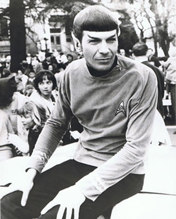 """The only time I ever appeared in public as Spock. Medford,Oregon Pear Blossom Festival in 1967"" - Leonard Nimoy. (Because only Oregon deserved Spock)"