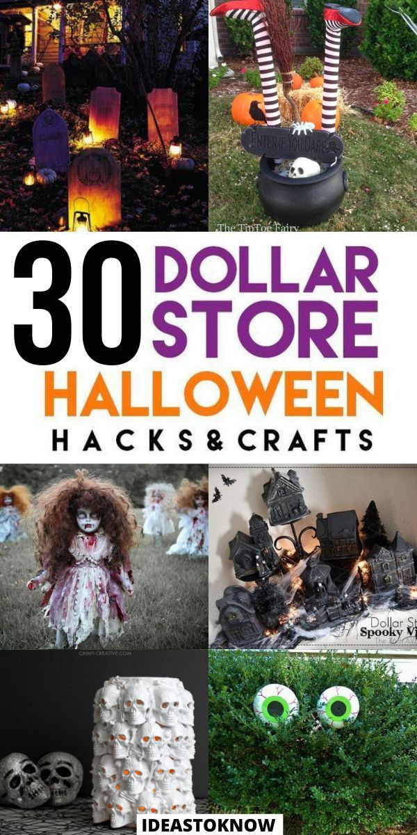 Halloween 2020 Isnt That Good 31 Dollar Store Halloween Decoration Ideas in 2020   Dollar store