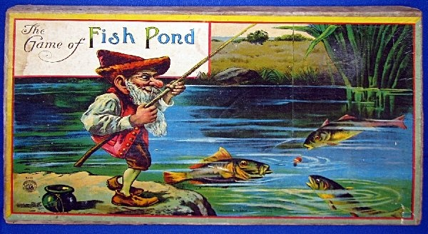 3179 best ideas about antique and vintage toys on for Fish pond game