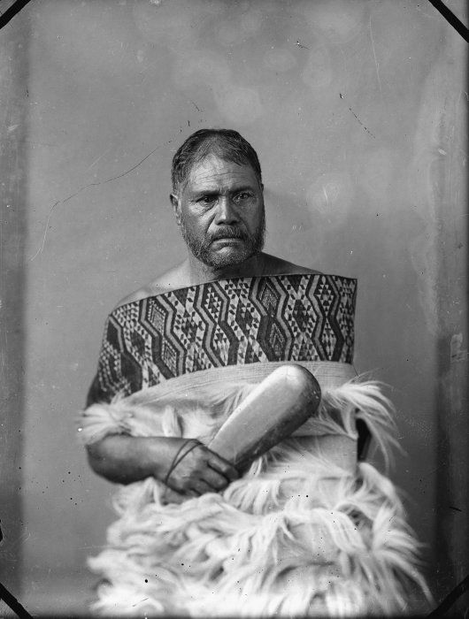 Unidentified Maori man from Hawkes Bay district