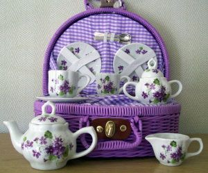 Tea Set : Tea Sets, China Teas Sets, Sets 33, Miniatures Teas, Antiques Teas, Purple Teas Sets, Teas Parties, Children Teas Sets, Miniatures Version
