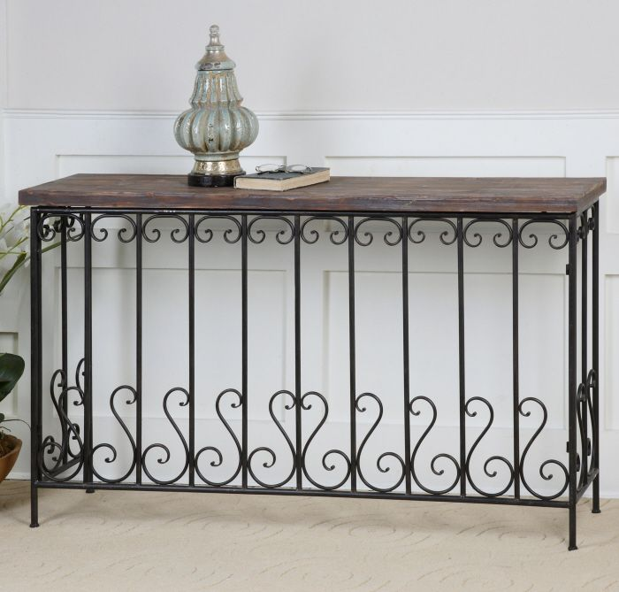 Awesome ... Decorating Metal Entry Table