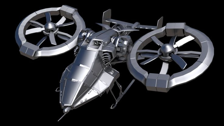 Sci-Fi Military Chopper