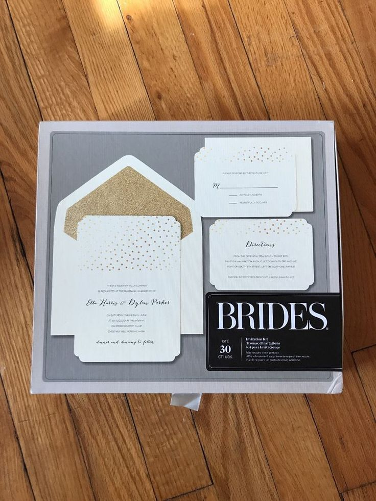 BRIDES® Wedding Invitation Kit, Three Sets of 30 (92 total)  | eBay
