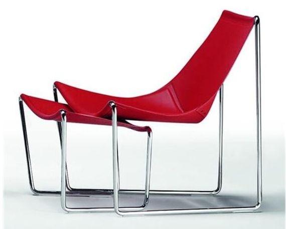 Fauteuil lounge en cuir design Apelle AT - Sledge