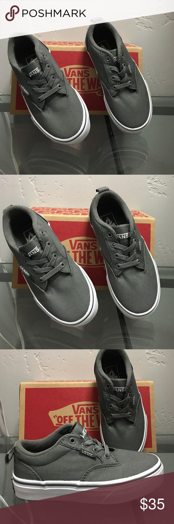 Vans Canvas gray Vans for boys. They are Winston Slip on. Size 11 toddler. NEW! Vans Shoes