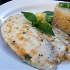 Broiled Tilapia Parmesan. Made this for dinner and it was wonderful. I don't like fish and neither does my husband - but we both gobbled this up and he even asked for seconds!
