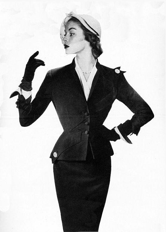 1950s Amazing Tailoring #vintage #fashion #1950s #suit