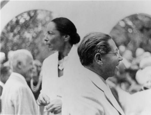 Lion Feuchtwanger and Wife Marta at an event. :: Lion Feuchtwanger Papers, 1884-1958