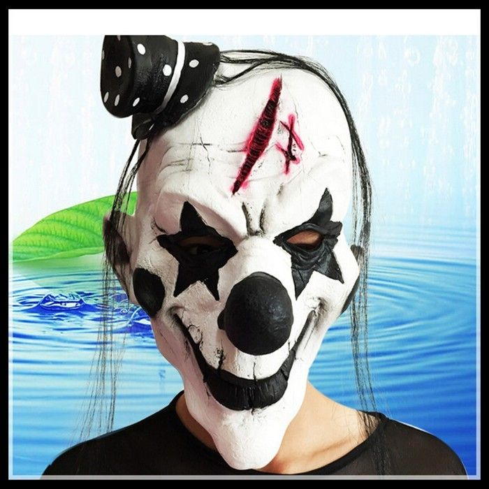 Free shipping Deluxe Clowns Face Mask Halloween Mask Scary Clown Masks for Party Cosplay Masquerade Acting Joker Face Head Mask  http://playertronics.com/products/free-shipping-deluxe-clowns-face-mask-halloween-mask-scary-clown-masks-for-party-cosplay-masquerade-acting-joker-face-head-mask/