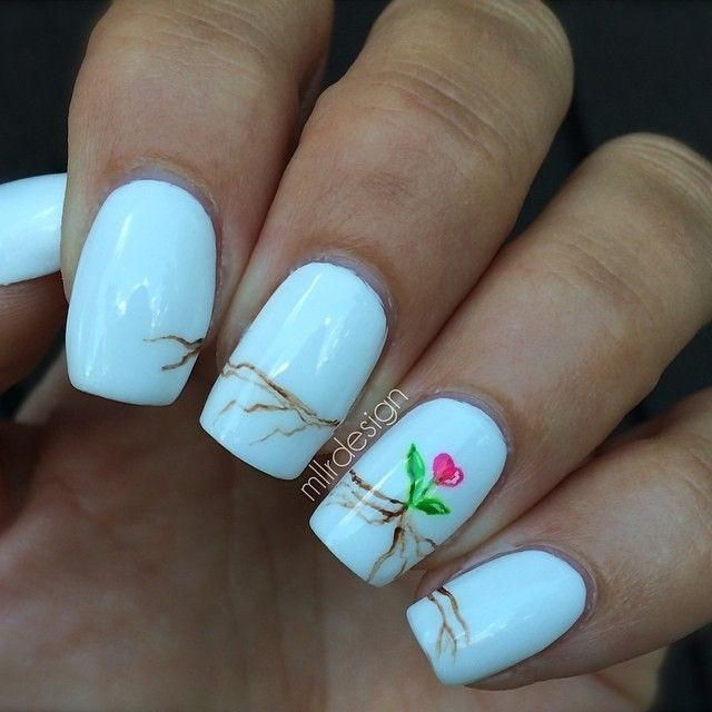 Pink heart nails  nail nails nailart