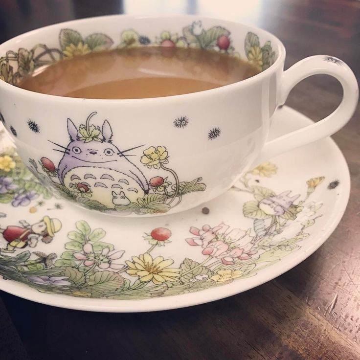 ☕️Everything tastes better when served in a Studio Ghibli teacup.