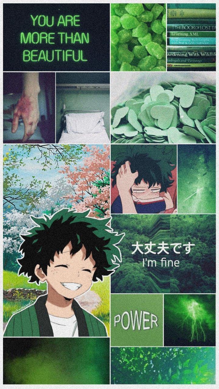 Bokunoheroacademia Bnha Myheroacademia Midoriyaizuku Midoriya Aura Renkleri Anime Anime Karakterler