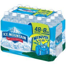 Ice Mountain 100% Natural Spring Water (8 fl. oz. bottles, 48 ct.) - Sam's Club