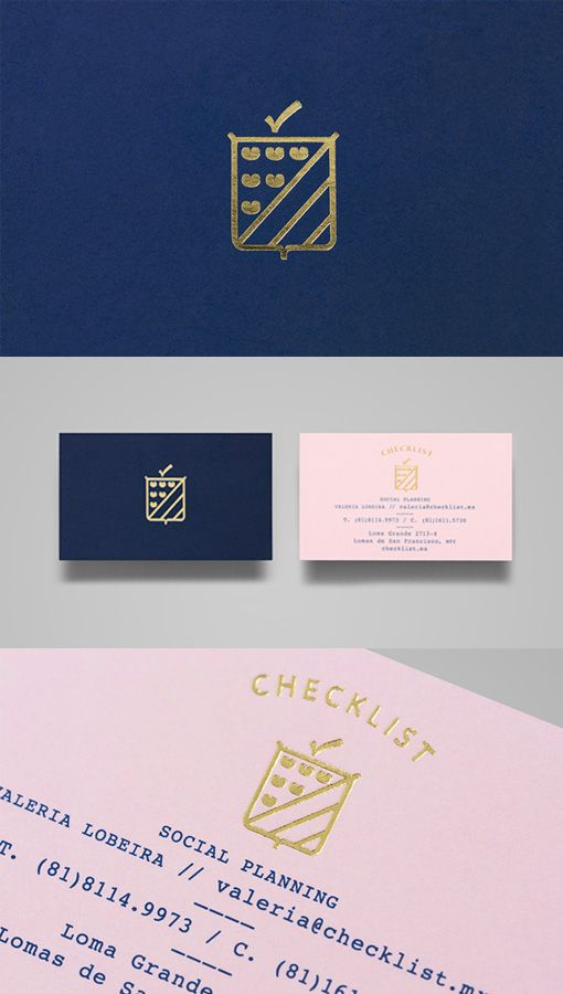Sophisticated And Feminine Gold Foil Business Card For An Event Planner