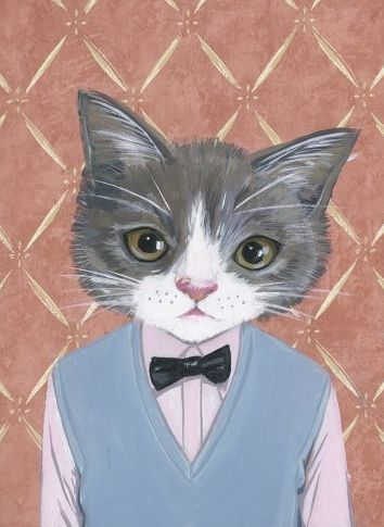 .Cat Art, Morris, Clothes, Cat In Clothing, Christmas Sweaters, Fashion Blog, Prints, Heather Mattoon, Painting