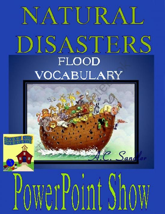 NATURAL DISASTERS: Floods Vocabulary Terms and Concepts PowerPoint Presentation from Skool Aid Products on TeachersNotebook.com -  (41 pages)  - Flooding is a horrific natural disaster that humanity has been trying to mitigate and prevent since the dawn of human history. This presentation introduces students to the academic terms and concepts needed for understanding and reading about flooding.