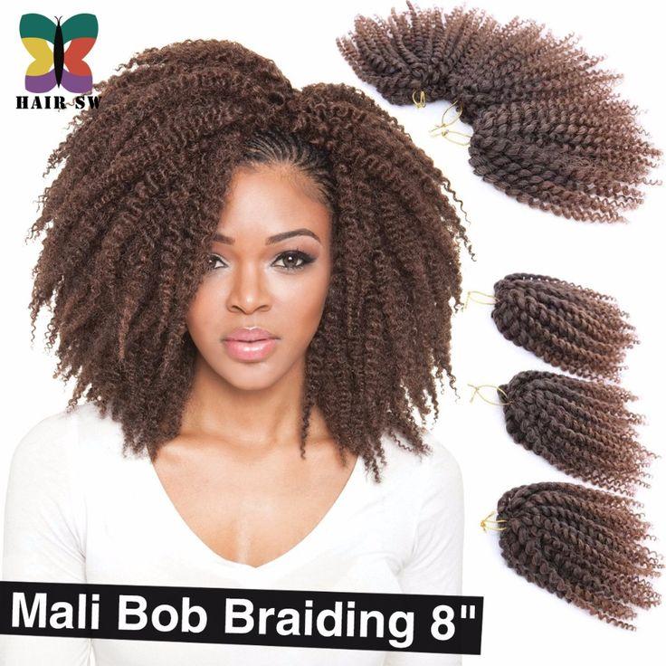 3 Pz/lotto Ombre bacchetta riccioli Mali Bob Torsione Crochet trecce di capelli corti Sintetici Kanekalon marley Afro Crespo Estensione Dei Capelli Treccia