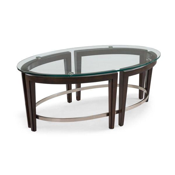 Carmen Contemporary Hazelnut Oval Glass Top Coffee Table - 25+ Best Ideas About Oval Glass Coffee Table On Pinterest Glass