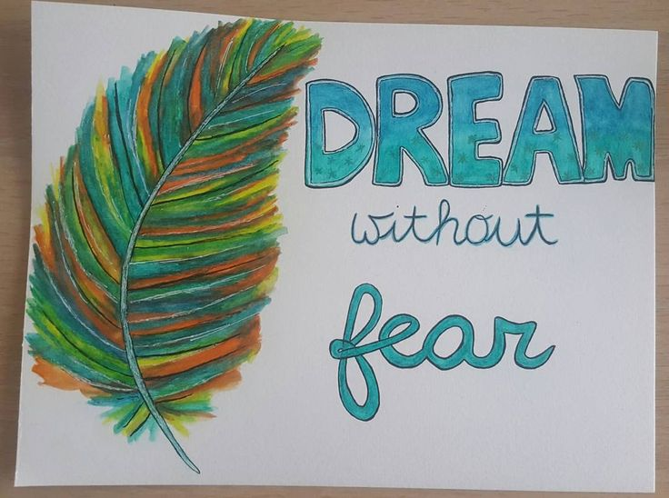 Hij is af!   #aquarel #tekenen #tekening #veer #quote #drawing #art #inktense #derwentpencils #derwentinktense #dreamwithoutfear #somethinginsidesostrong