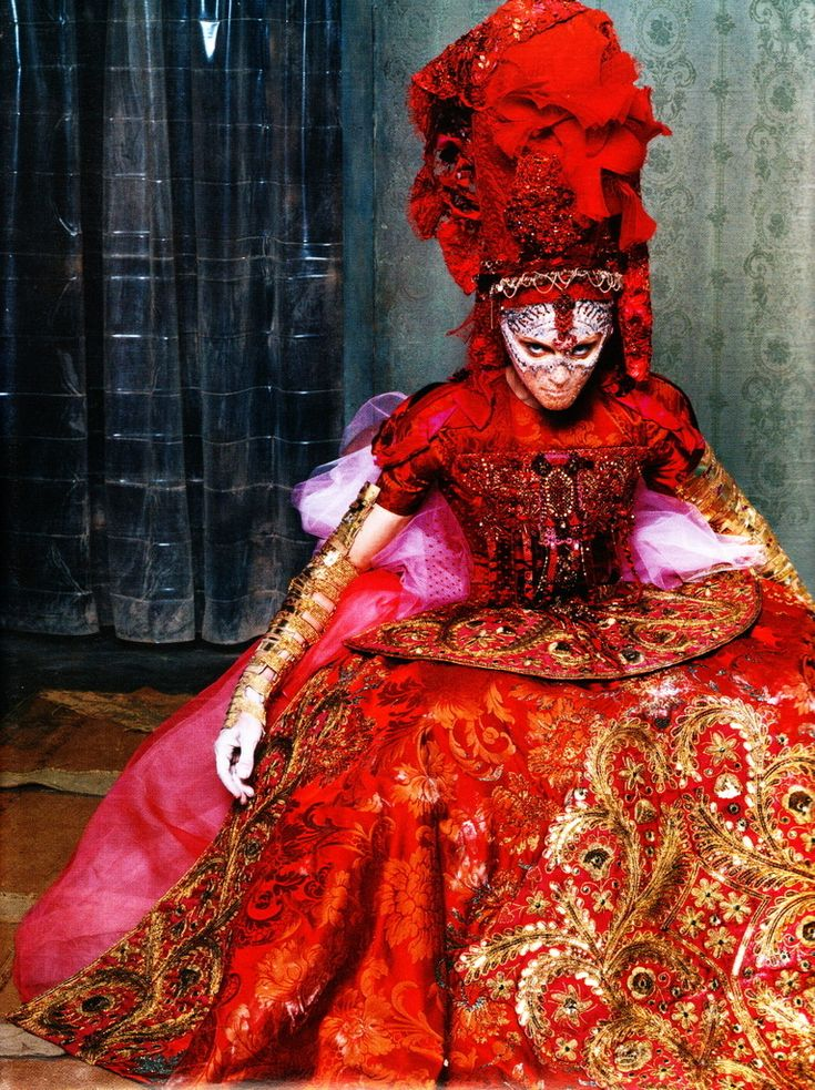 Madonna in Alexander McQueen, Opulence. The vibrant colours really attract me to this one.