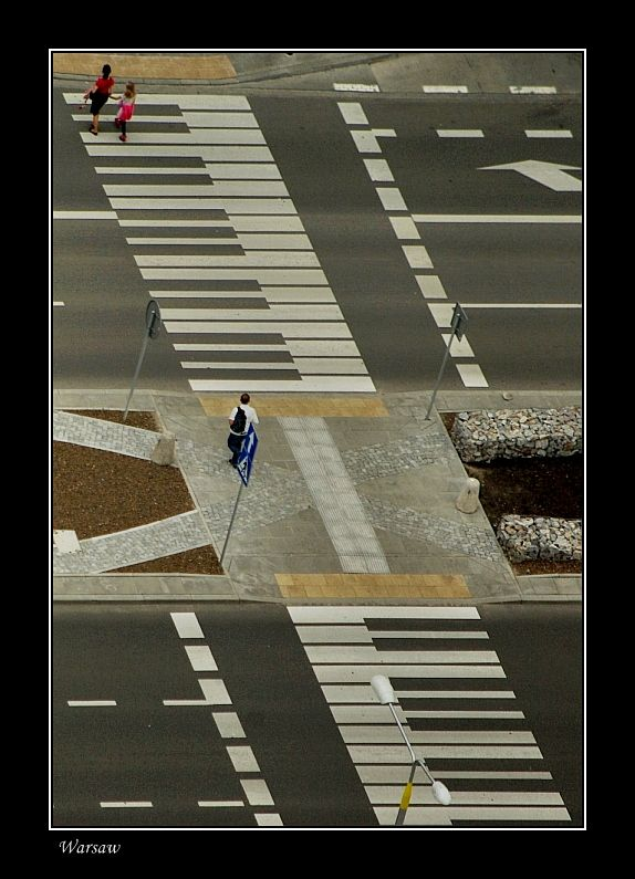 """Chopin's Warsaw - Keyboard crosswalk"" - photo by George Rumpler (Budapestman), via TrekEarth;  Poland"