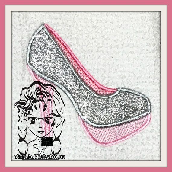 Shoes High Heels Applique  Perfect for a little Diva dress up