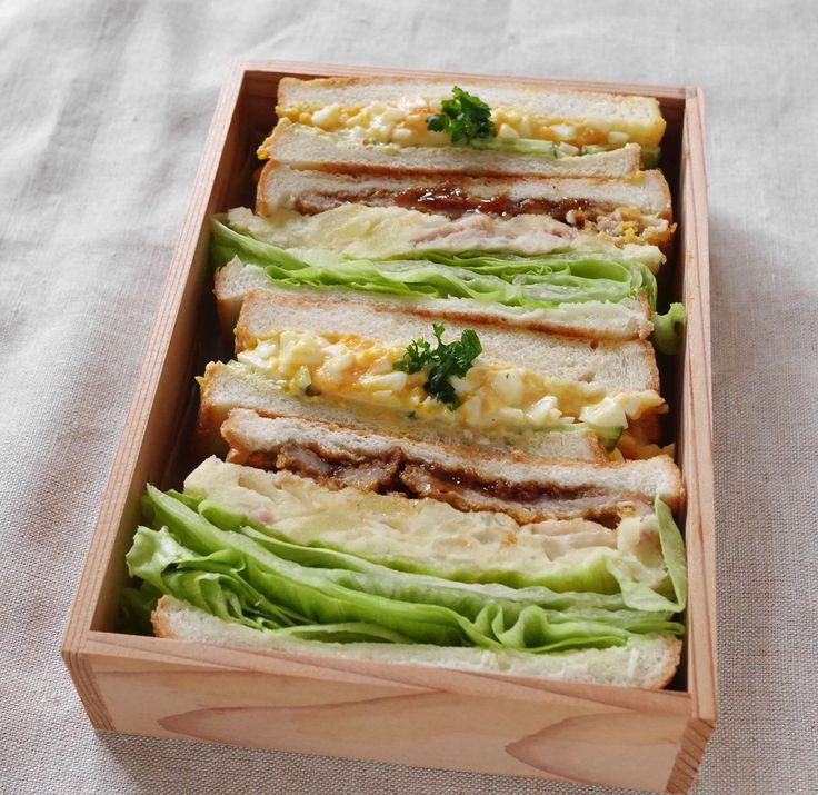 サンドイッチ二種(かつサンド・玉子サンド)