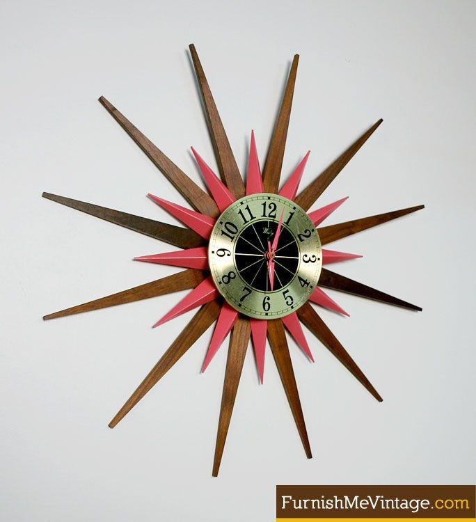 RePOP Mid Century Modern Starburst Clock