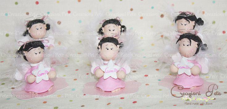 Angel favor baby girl  Baby shower favor for girl   Italian Favors, Baby shower gift,