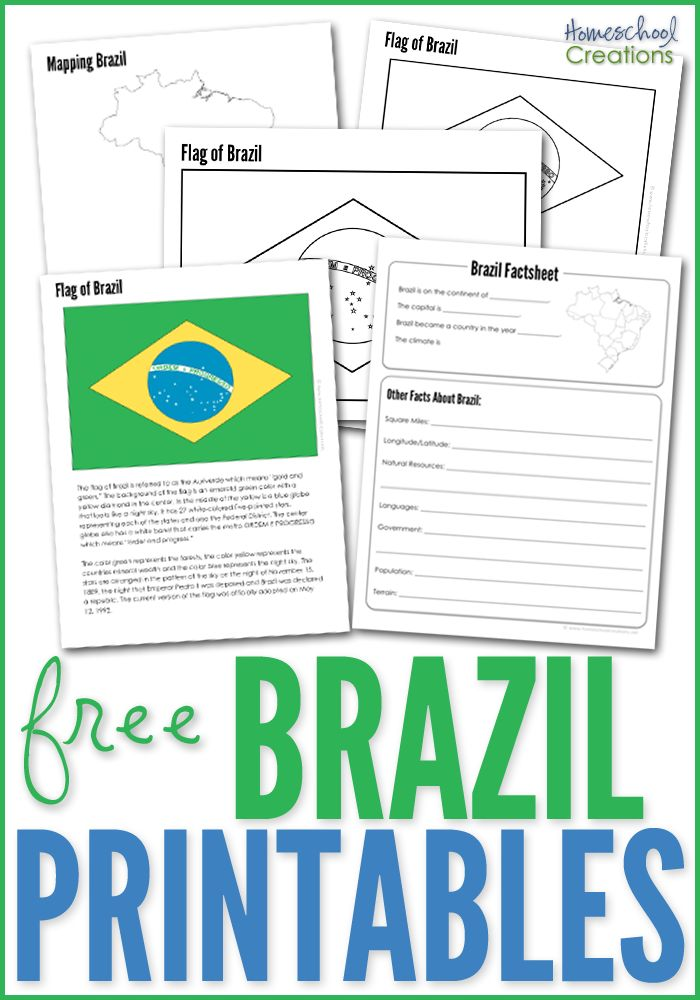 """Our recent geography study has taken us to South Americaand that involved some more updated printables for Kaleb. Brazil is our first stop in our """"tr"""