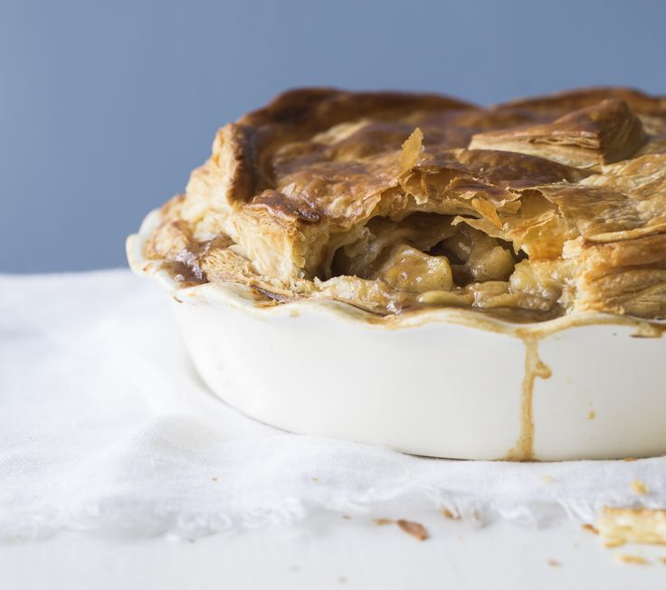 Apple, feijoa and maple pie