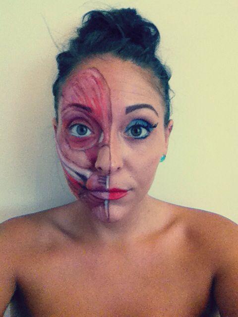 Facial muscles make up ;) #face #makeup #muscles
