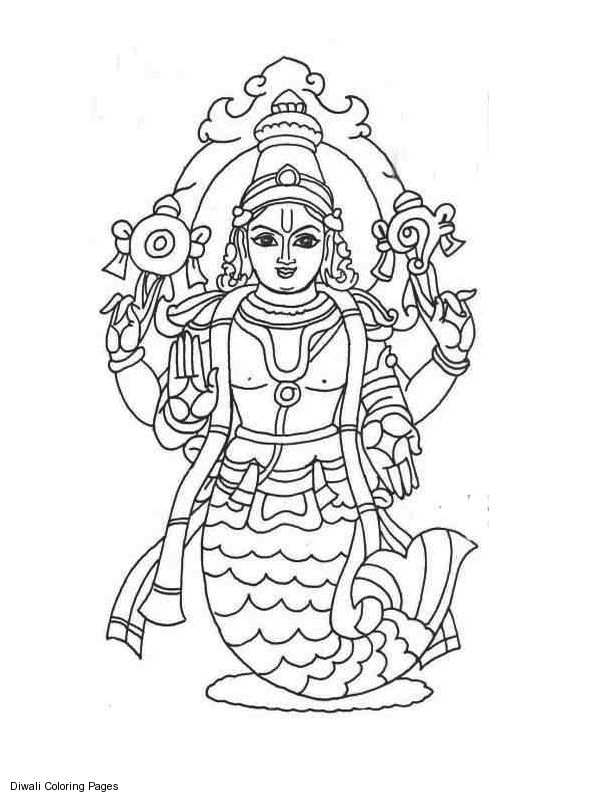 hindu gods printable coloring pages - photo#1