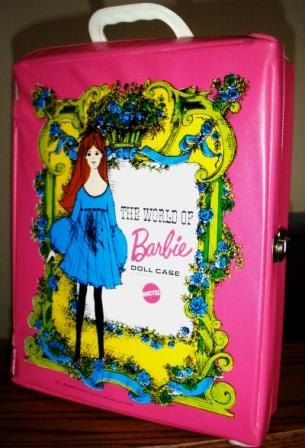 vintage BARBIE  DOLL CASE in hot pink 1968  by CndnPrairieAntiques, $25.00