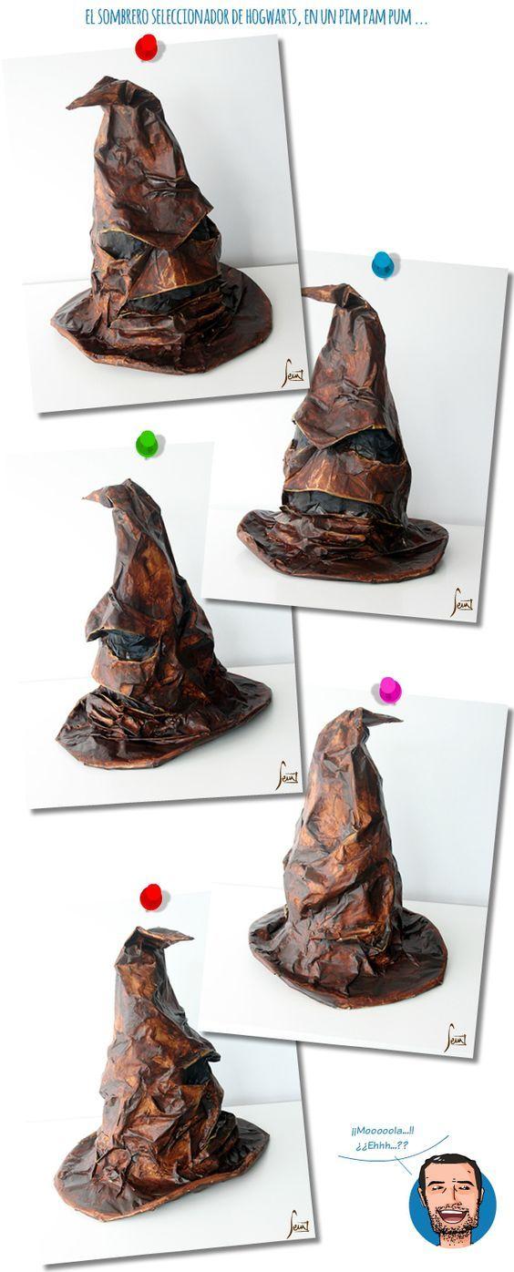 Disfraz DIY sombrero seleccionador de Hogwarts