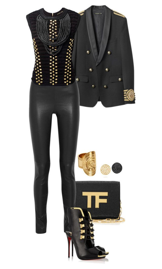 """Troubida."" by foreverforbiddenromancefashion ❤ liked on Polyvore featuring Tom Ford, Joseph, Christian Louboutin and Ileana Makri"