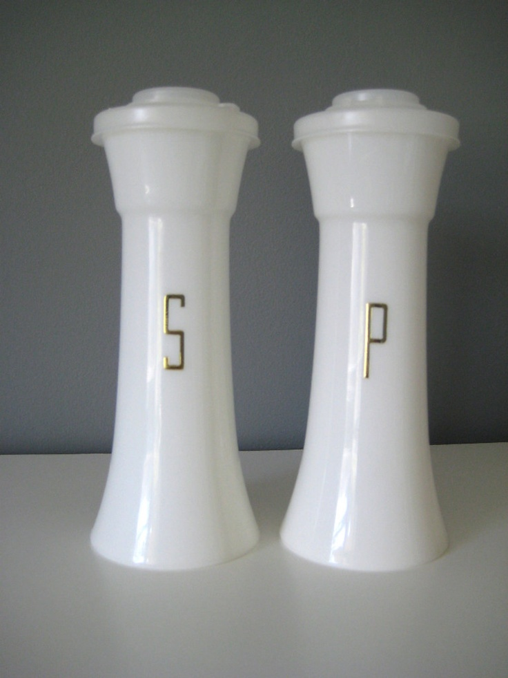 Tupperware salt & pepper shakers. In the 70s and today! I love eBay.