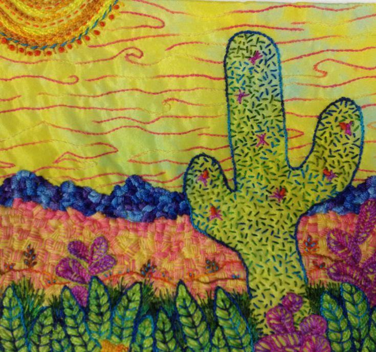 55 best fiber art by susan brubaker knapp images on for Hand thread painting tutorial