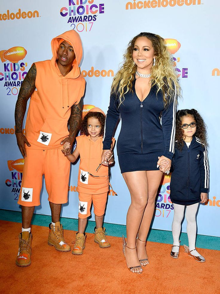 Nick, Moroccan, Monroe Cannon & Mariah Carey from Kids' Choice Awards 2017: Red Carpet Arrivals  This fab foursome was totally twinning on the orange carpet.