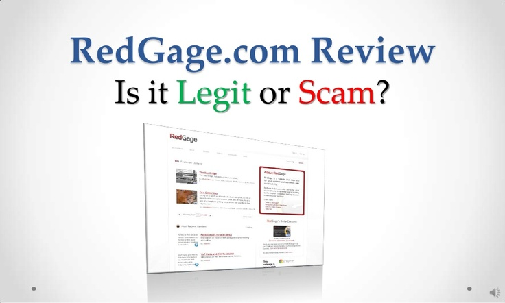 red-gage-com-review-legit-or-scam by Sandeep Iyengar via Slideshare