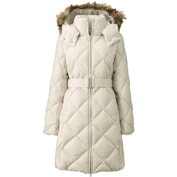 UNIQLO Powder Soft Down Coat (1.455 ARS) ❤ liked on Polyvore featuring outerwear, coats, down coats, uniqlo, uniqlo coat, hooded coats y hooded down coat